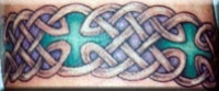 Celtic tracery in colour